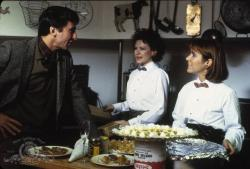 Sam Waterston, Dianne Wiest and Carrie Fisher in Hannah and Her Sisters