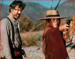 Robert Culp and Raquel Welch in Hannie Caulder