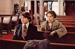 Bud Cort and Ruth Gordon in Harold and Maude.