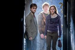 Daniel Radcliffe, Rupert Grint and Emma Watson in Harry Potter and the Deathly Hallows.