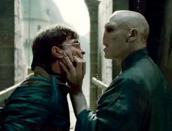 Daniel Radcliffe and Ralph Fiennes in Harry Potter and the Deathly Hallows: Part 2.