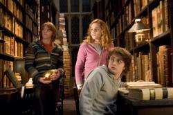 Rupert Grint, Emma Watson and Daniel Radcliffe in Harry Potter and the Goblet of Fire.