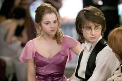 Emma Watson and Daniel Radcliffe in Harry Potter and the Goblet of Fire.