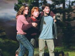 Emma Watson, Rupert Grint and Daniel Radcliffe in Harry Potter and the Prisoner of Azkaban.