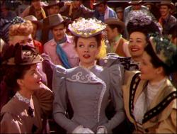 Judy Garland in The Harvey Girls.