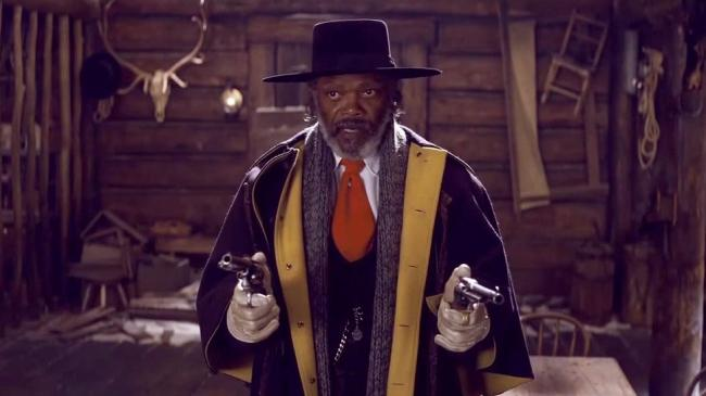 Samuel L. Jackson in The Hateful Eight.