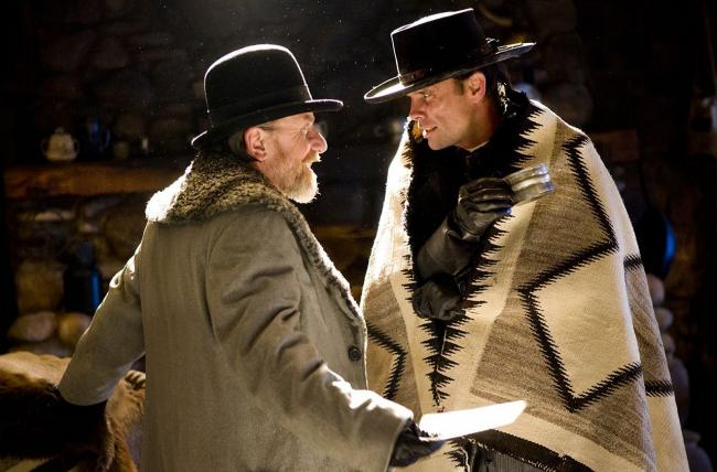 Tim Roth and Walter Goggins in The Hateful Eight