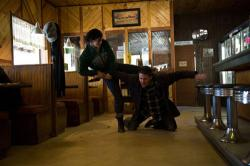 Gina Carano kicks Channing Tatum's butt in Haywire.