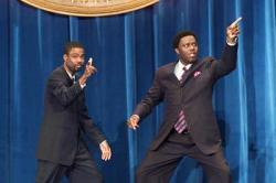 Chris Rock and Bernie Mac in Head of State.
