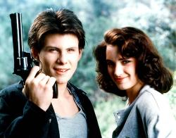 Christian Slater and Winona Rider in Heathers