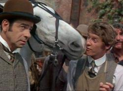 Walter Matthau and Michael Crawford in Hello Dolly.