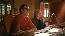 Joaquin Phoenix and Amy Adams in Her.