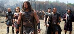 Aksel Hennie, Ingrid Bolso Berdal, Dwayne Johnson, Reece Ritchie, Rufus Sewell, and Ian McShane in Hercules.
