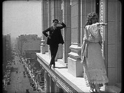 Harold Lloyd and Mildred Davis in High and Dizzy.
