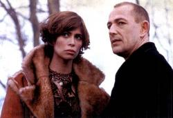 Lisa Barbuscia and Bruce Payne in Highlander: Endgame.