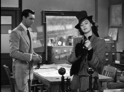 Cary Grant and Rosalind Russell in His Girl Friday.