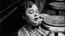 Fatty Arbuckle sleeps on the job in His Wedding Night.