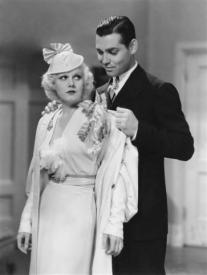 Jean Harlow and Clark Gable in Hold Your Man.