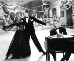 Marjorie Reynolds, Fred Astaire and Bing Crosby in Holiday Inn.