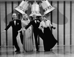 Bing Crosby, Marjorie Reynolds, Fred Astaire and Virgina Dale in Holiday Inn