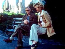 Woody Allen and Tea Leoni in Hollywood Ending.
