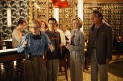 Woody Allen, Barney Cheng, Tea Leoni and George Hamilton.