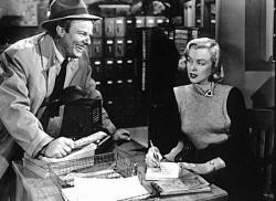 Alan Hale Jr. and Marilyn Monroe in Home Town Story.