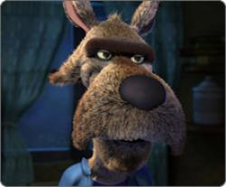 Patrick Warburton is the Wolf in Hoodwinked.