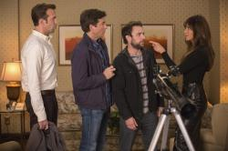 Jason Sudeikis, Jason Bateman, Charlie Day and Jennifer Aniston in Horrible Bosses 2.