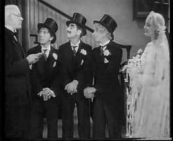 Chico, Groucho, Harpo and Thelma Todd in Horse Feathers.