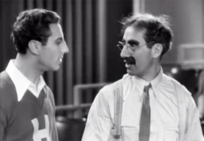 Zeppo and Groucho Marx in Horse Feathers