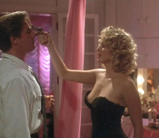 Virginia Madsen gets Don Johnson in The Hot Spot