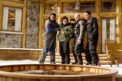 Craig Robinson, Clark Duke, Rob Corddry and John Cusack in Hot Tub Time Machine.