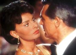 Sophia Loren and Cary Grant in Houeboat.