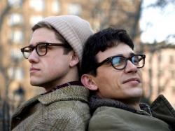Aaron Tveit and James Franco as life long couple Peter Orlovsky and Allen Ginsberg.