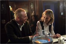 Simon Pegg and Kirsten Dunst in How to Lose Friends and Alienate People.