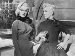 Marilyn Monroe and Betty Grable in How to Marry  a Millionaire.