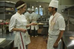 Charlotte Le Bon and Manish Dayal in The Hundred-Foot Journey.