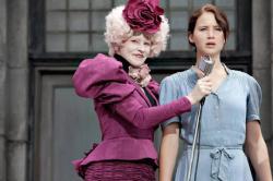 Elizabeth Banks and Jennifer Lawrence in The Hunger Games.