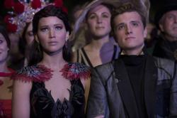 Jennifer Lawrence and Josh Hutcherson in The Hunger Games: Catching Fire