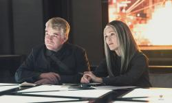 Philip Seymour Hoffman and Julianne Moore in The Hunger Games: Mockingjay - Part 1