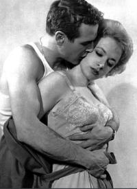 Paul Newman and Piper Laurie in The Hustler