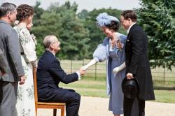 Bill Murray, Olivia Colman and Simon West in Hyde Park on Hudson.