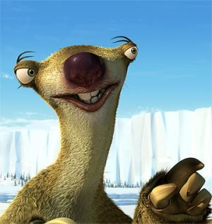 John Leguizamo as Sid steals the movie in Ice Age 2: The Meltdown.