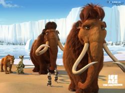 The entire gang in Ice Age 2: The Meltdown.