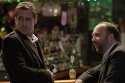 Ryan Gosling and Paul Giamatti in Ides of March.
