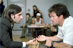 Jason Schwartzman and Mark Wahlberg in I Heart Huckabees.