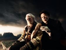 Christopher Plummer and Tom Waits make a deal as the Doctor and the Devil in The Imaginarium of Doctor Parnassus.