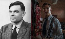 Alan Turing and Benedict Cumberbatch