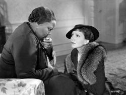 Louise Beavers and Claudette Colbert in Imitation of Life